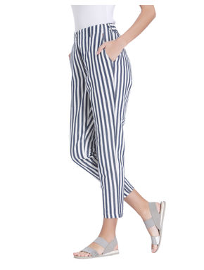 Black And White Striped Pants
