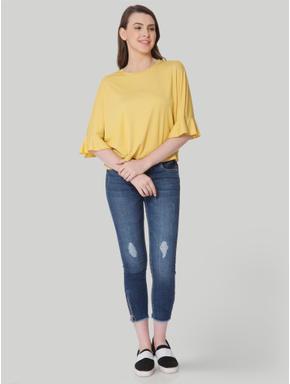 Mustard Drop Shoulder T-Shirt