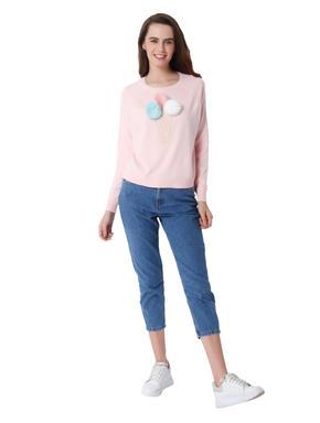 Pink Ice Cream Cone Print Pullover