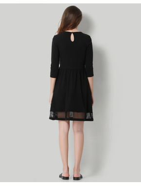 Black Mesh Sheath Dress
