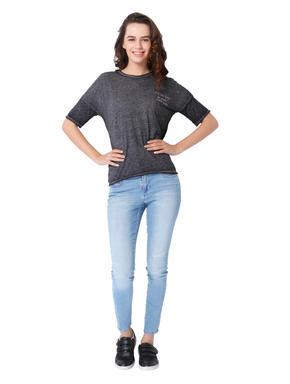 Black Drop Shoulder Box T-Shirt