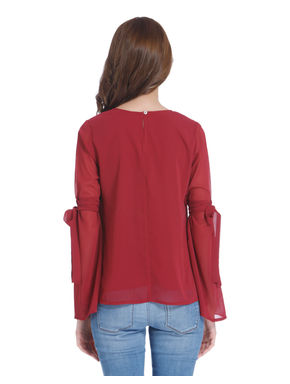 Red Knot Sleeves Top