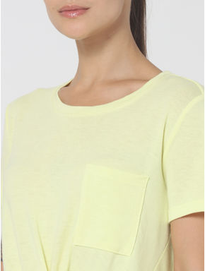 Yellow Front Knot T-shirt