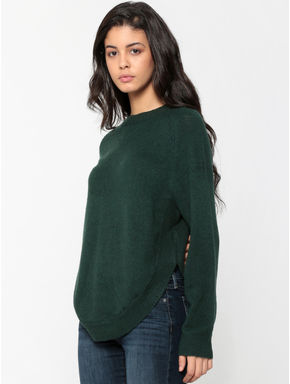 Turquoise Rounded Hem Pullover