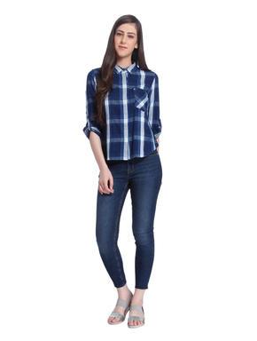 Blue Check Short Shirt