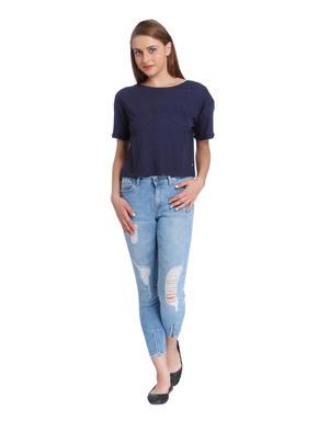 Blue Tape Detail T-Shirt