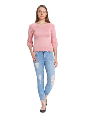 Pink Lantern Sleeves Pullover