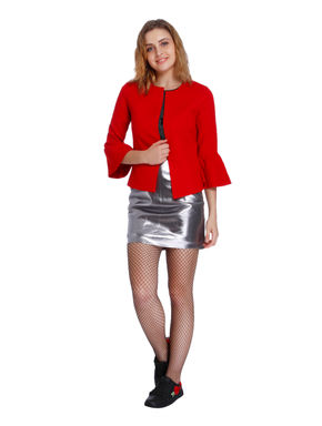 Bright Red Bell Slaves Blazer