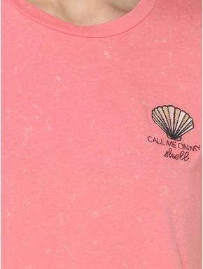 Pink Shell Print T-Shirt