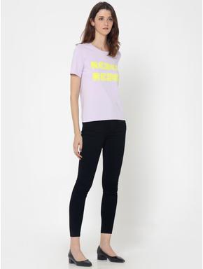 Light Purple REBEL Print T-Shirt
