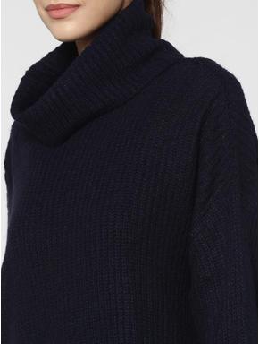 Dark Blue High Neck Pullover
