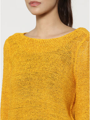 Yellow Criss Cross Back Pullover