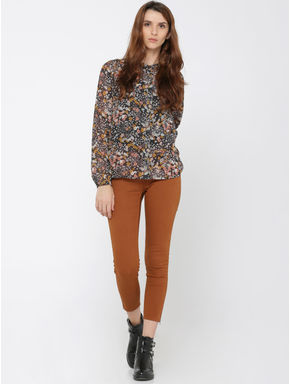 Dark Blue Floral Print Shirt