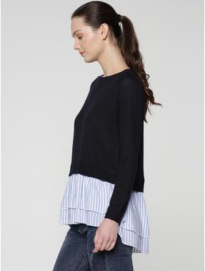 Blue Shirt Insert Pullover