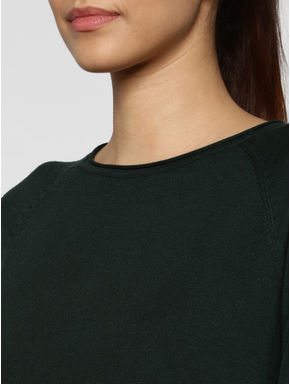 Green Back Lace Detail Pullover
