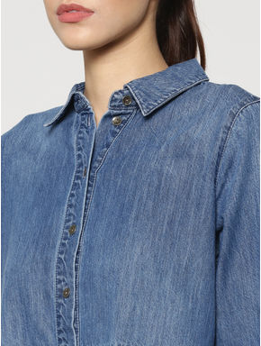 Blue Denim Shirt Dress
