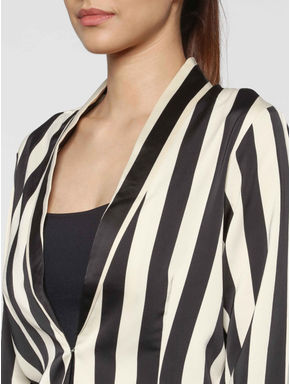 Black Striped Blazer