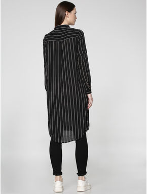 Black Striped Long Shirt