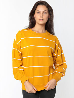 Mustard Striped Sweatshirt