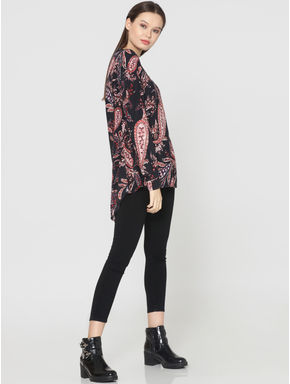 Dark Blue All Over Paisley Print Shirt