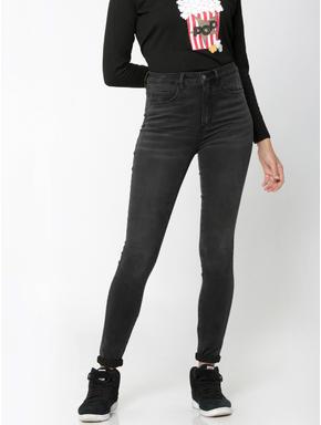 Black High-Waist Skinny Fit Jeans