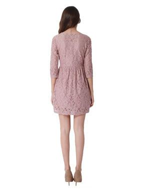 Pink Lace Mini Dress