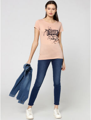 Rose Graphic Text Print T-Shirt