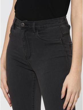 Dark Grey High Waist Skinny Jeans