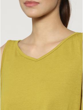 Olive Green Cold Shoulder Top