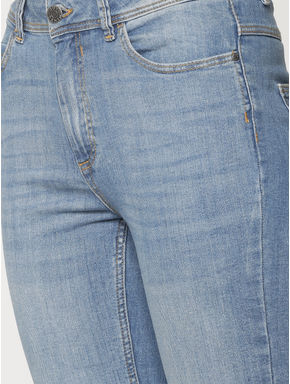 Blue High Rise Flared Regular Fit Boot Cut Jeans
