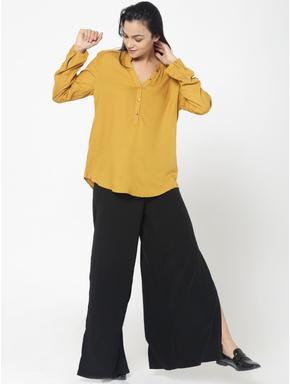 Mustard Dobby Weave Shirt