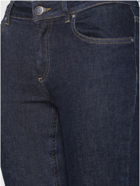 Dark Blue Mid Rise Boot Cut Jeans