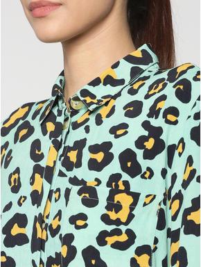 Green Leopard Print Shirt