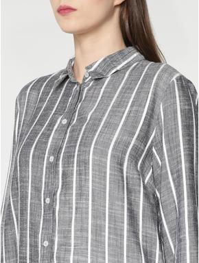 Grey Striped Shirt