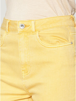 Yellow Low Rise Skinny Fit Pants