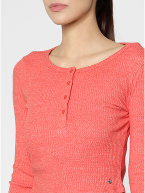 Red Slim Fit Crop Top