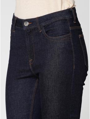 Dark Blue High Waist Ankle Length Skinny Fit Jeans