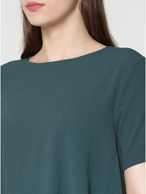 Dark Green Flared Top