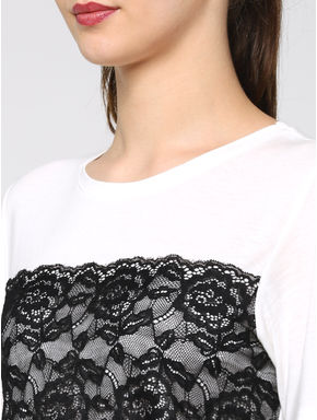 White Lace T-Shirt