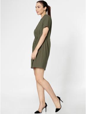 Green Mini Shirt Dress