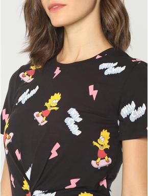 X Simpsons Black Lisa Graphic Print T-shirt