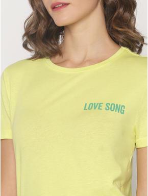ft Ananya Panday Green Text Print T-shirt