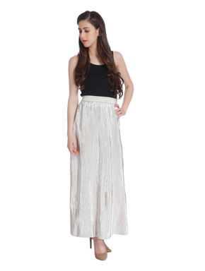 Metallic Maxi Skirt