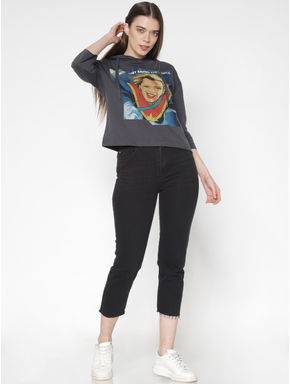 X Marvel Grey Captain Marvel Graphic Print Hooded Sweatshirt
