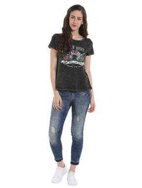 Guns N' Roses Print Grey T-Shirt