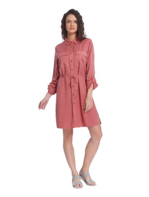 Light Rust Shirt Dress