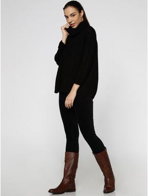 Black High Neck Pullover
