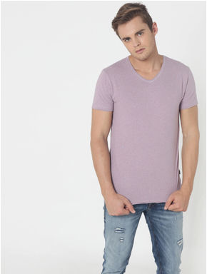 Light Purple V-Neck T-Shirt