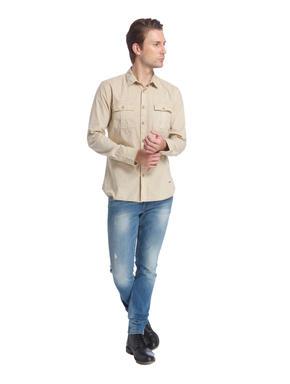 Beige Slim Fit Shirt