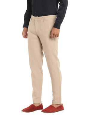 Beige Linen Trousers